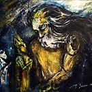 """Titan asks sun and moon the way to his beloved"" by Tatjana Larina"