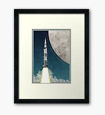 Apollo Rocket Framed Print