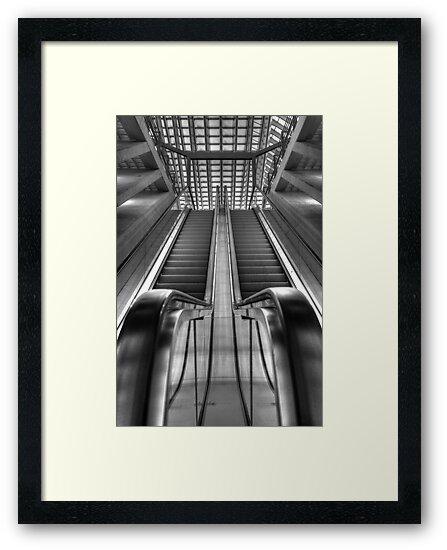 Escalator railwaystation by Peter Wiggerman