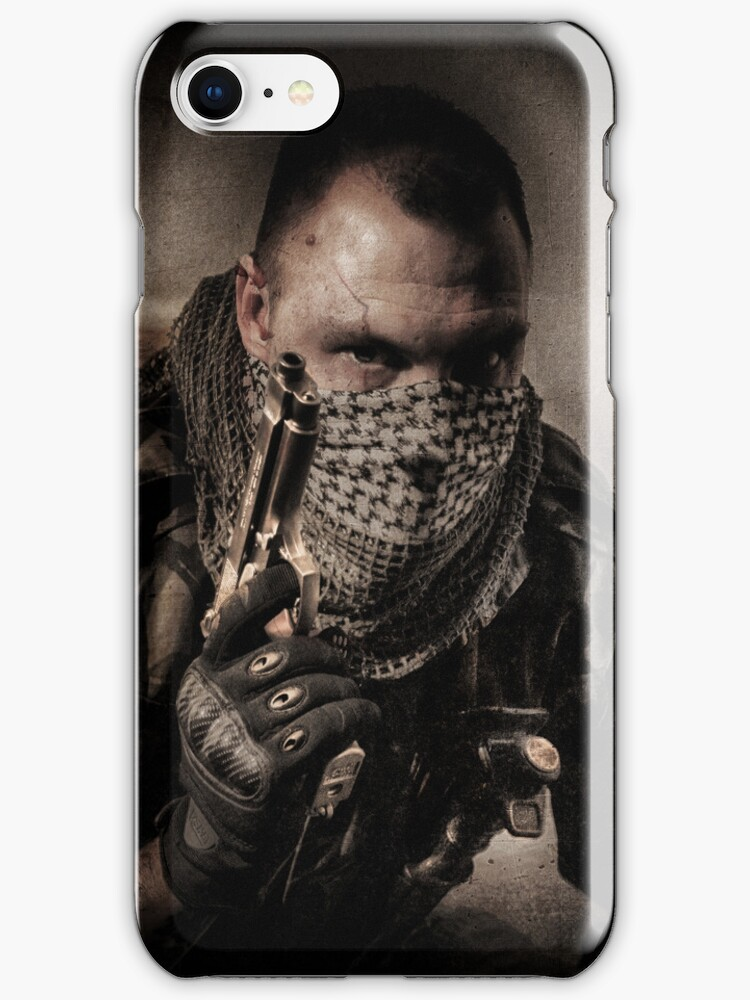 I'M ONLY A SOLDIER - Iphone case by Rob  Toombs