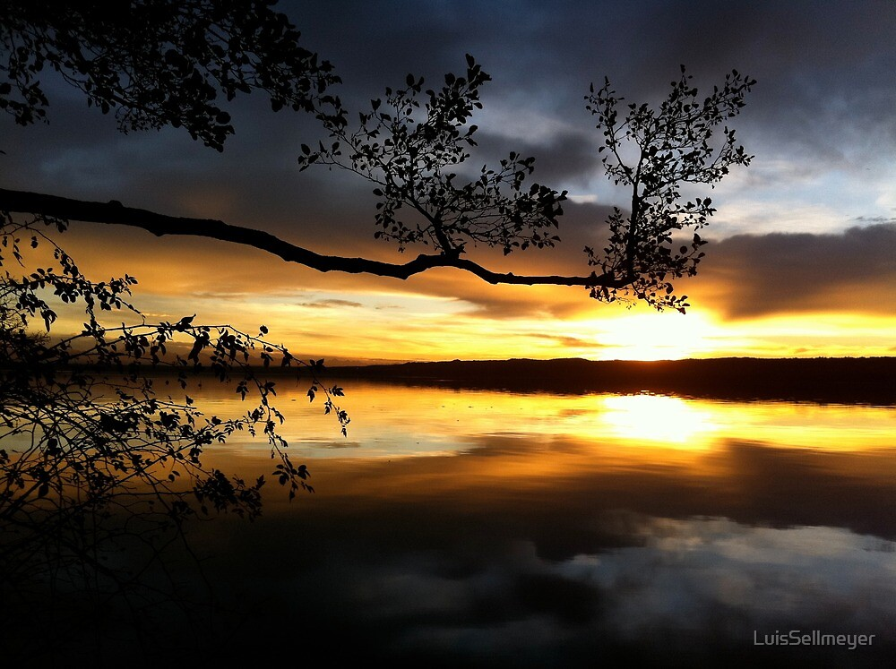 Sunset over a Lake by LuisSellmeyer