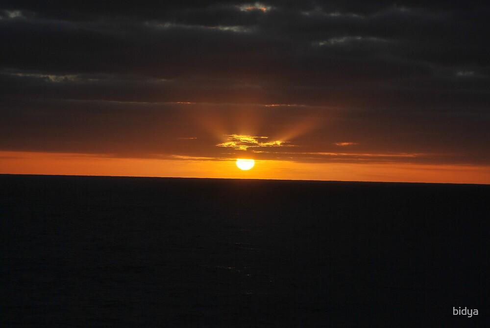 Sunset over Water by bidya