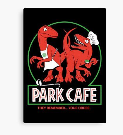 Raptors in the Kitchen Canvas Print