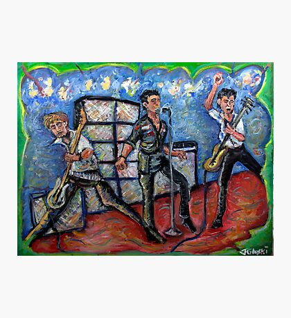 Revolution Rock - The Clash - Oil on Canvas Photographic Print