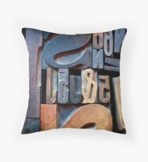 "Typesetting - The Number ""2"" Throw Pillow"