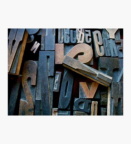 "Typesetting - Letter ""!"" Photographic Print"