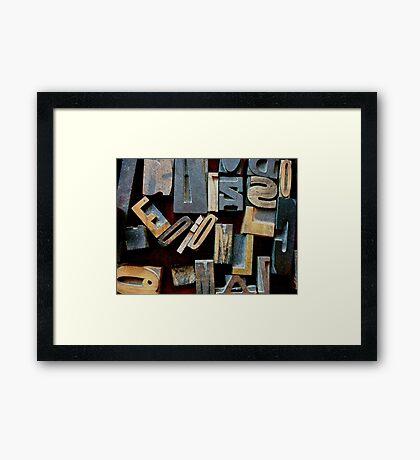 """Typesetting - The Letter """"E"""" Framed Print"""