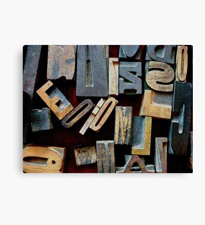 "Typesetting - The Letter ""E"" Canvas Print"