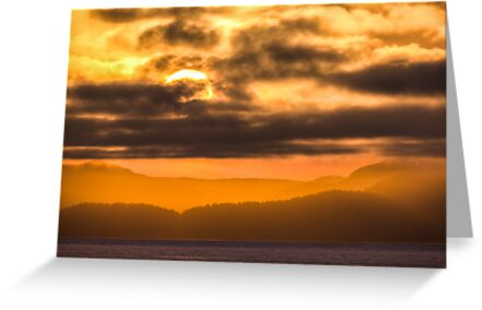 Sunset over Vancouver Island, Canada  by Jim Stiles