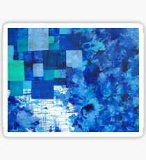 Blue puddle square peg Sticker