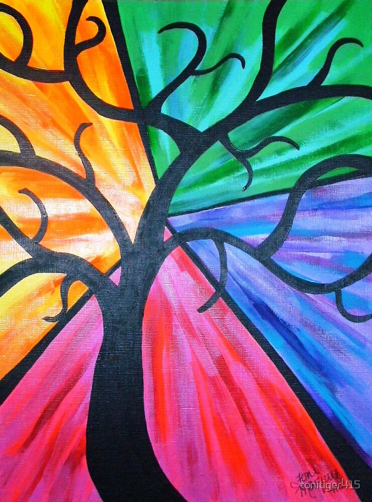 Burst of Colors Tree by tonitiger415