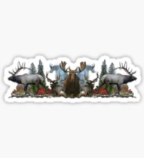 North American Wildlife  Sticker
