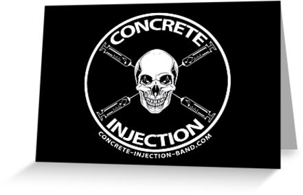concrete injection skull logo by mschandl
