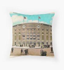 Yankee Stadium Throw Pillow