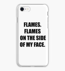 Flames. Flames on the side of my face. Clue. iPhone Case/Skin