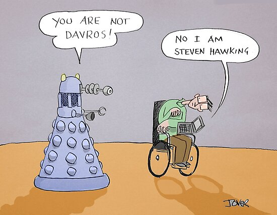 stephen and the dalek by Loui  Jover