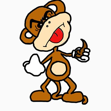 poop throwing monkey by Chimpking