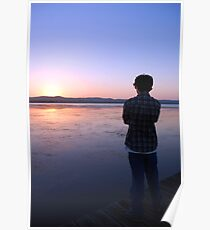 Staring at the Sunset Poster