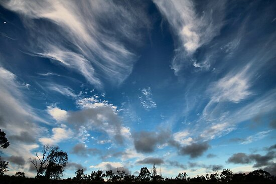 Cirrus Clouds over Warwick by Terry West