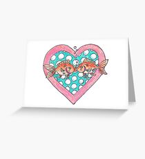 Goldfish In Love Greeting Card