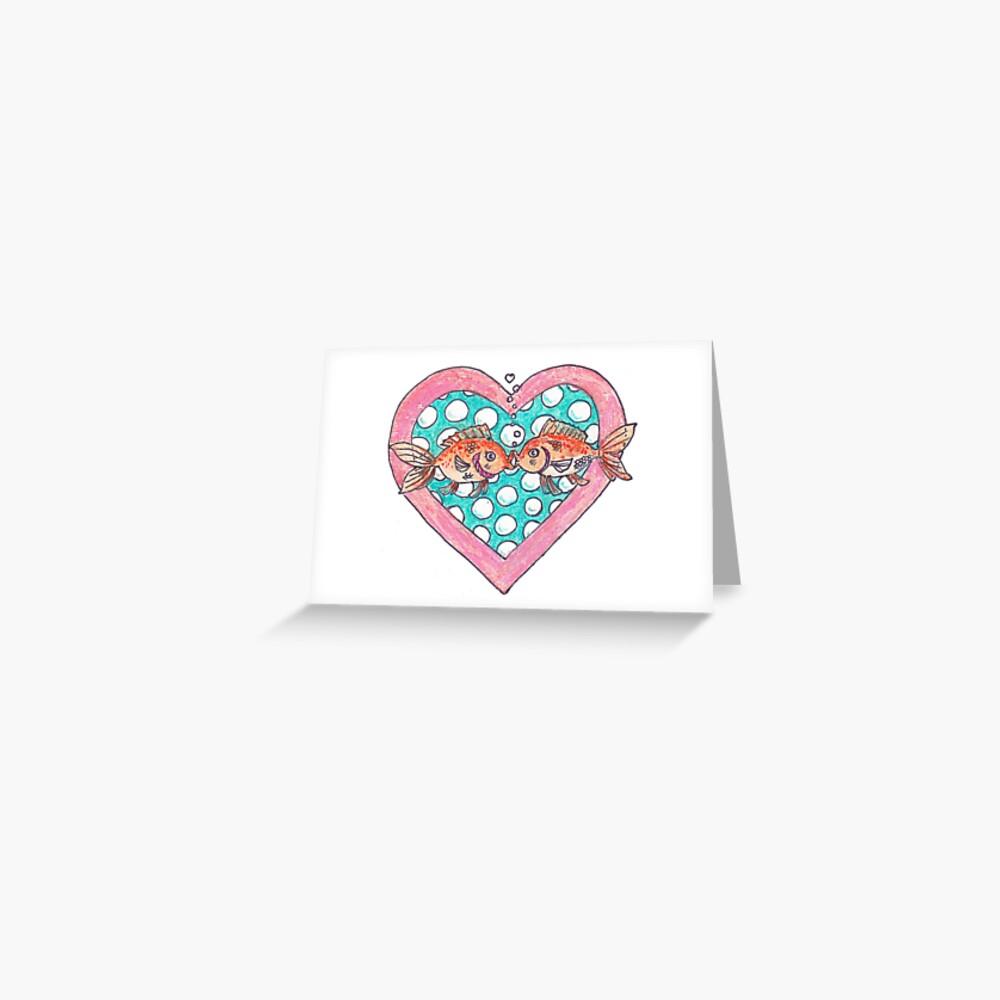 Goldfish In Love Greeting Card
