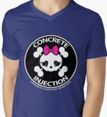 concrete injection baby doll standard logo Men's V-Neck T-Shirt