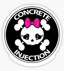concrete injection baby doll standard logo Sticker