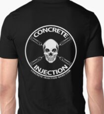 concrete injection skull logo Unisex T-Shirt
