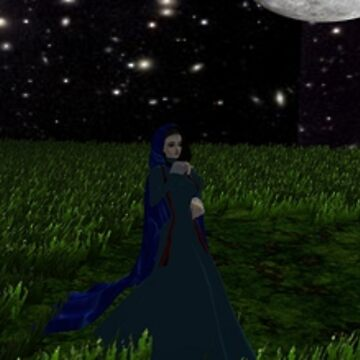 Christine Daae in the moonlight by Godofmischief