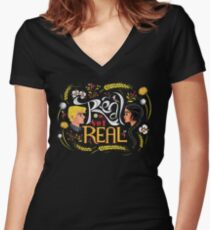 Real Or Not Real Women's Fitted V-Neck T-Shirt