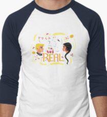 Real Or Not Real Men's Baseball ¾ T-Shirt