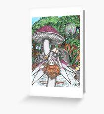 Mushroom Fairy Greeting Card