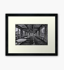 Abandonded and Empty Framed Print