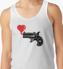 Pistol Blowing Heart Bubbles Tank Top
