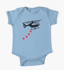 Army Helicopter Bombing Love One Piece - Short Sleeve
