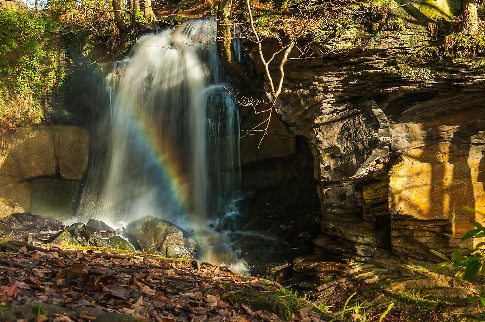 Rainbow Waterfall by Moments In Time Photography
