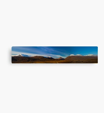 Mountains of Assynt Panorama Canvas Print