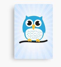 Sweet & cute owl Canvas Print