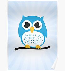 Sweet & cute owl Poster