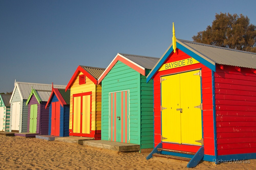 Brighton Bathing Boxes by Richard Murias