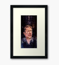 PORTRAIT FOR THE MAN THAT FEELS (JON LAURIE) - COMMISSION Framed Print