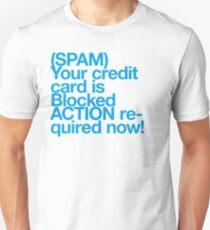 (Spam) Blocked! (Cyan type) Unisex T-Shirt