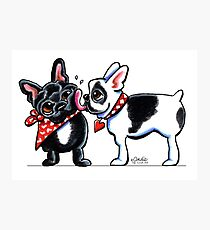 French Kiss Photographic Print