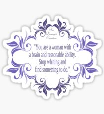 Woman with a Brain and Ability Sticker