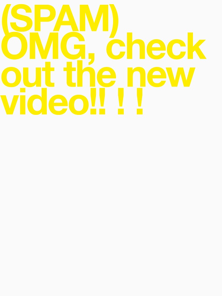 (Spam) OMG video! (Yellow type) by poprock