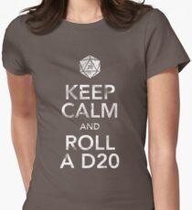 Keep Calm and Roll a D20 (White Text) T-Shirt