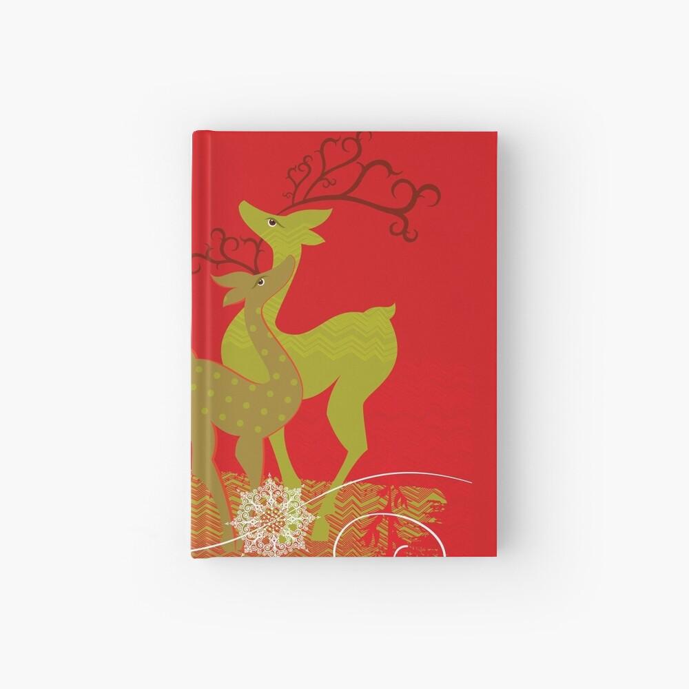 Elegance Couple Deer Hardcover Journal