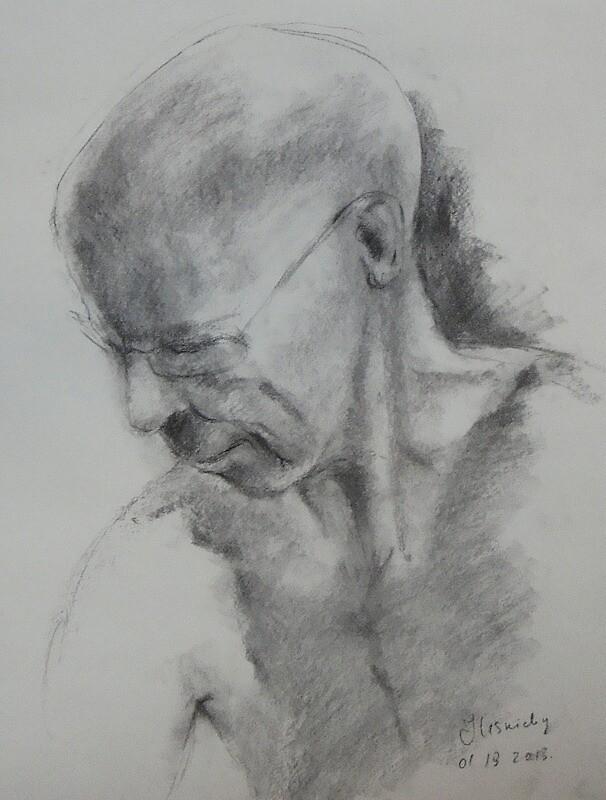 Potrait of a man by Julia Lesnichy