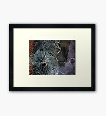 Bullet Hole Landscape Abstract Framed Print