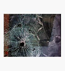 Bullet Hole Landscape Abstract Photographic Print